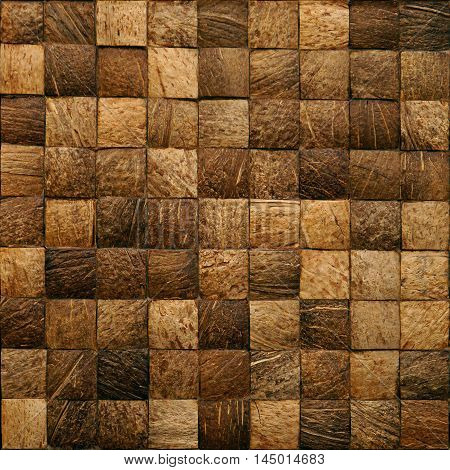 Wooden blocks stacked for seamless background - decorative wallpaper