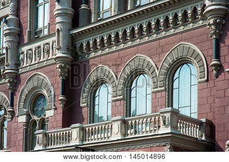 Beautiful architectural facade of an old building.