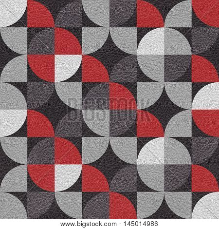 Abstract paneling pattern - seamless background - leatherette texture