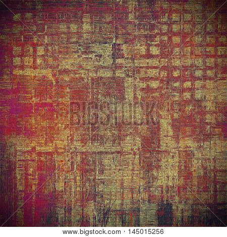 Grunge background or vintage texture in traditional retro style. With different color patterns: gray; red (orange); purple (violet); yellow (beige); brown; pink