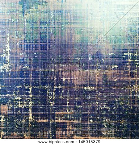 Vintage aged texture, old scratched background. With different color patterns: gray; green; blue; purple (violet); yellow (beige); brown