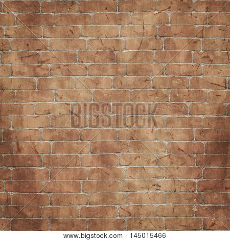 2d illustration of a brick wall background