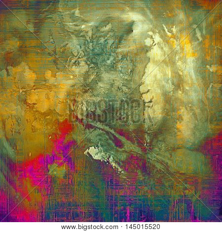 Art grunge texture, vintage abstract background for creative design. With different color patterns: green; blue; red (orange); purple (violet); yellow (beige); brown