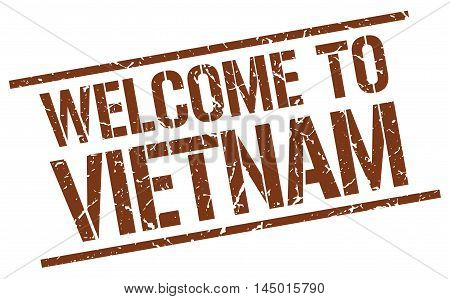 welcome to Vietnam. stamp. grunge square sign