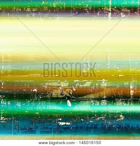 Art vintage texture, decorative grungy background. With different color patterns: green; blue; red (orange); yellow (beige); brown; cyan