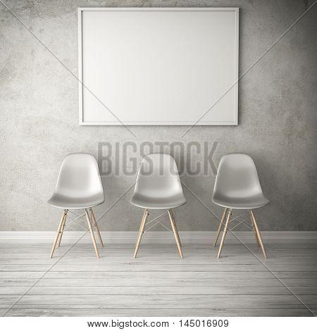 domestic elegance living white room 3d illustration