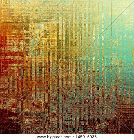 Vintage style designed background, scratched grungy texture with different color patterns: blue; red (orange); yellow (beige); brown; pink; cyan