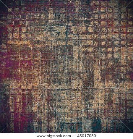 Retro style abstract background, aged graphic texture with different color patterns: gray; purple (violet); yellow (beige); brown; black; pink