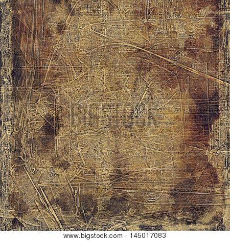 Veined grunge background or scratched texture with vintage feeling and different color patterns: gray; yellow (beige); brown; black