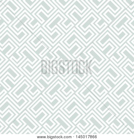 Seamless vector light blue and white pattern for your designs and backgrpounds. Modern geometric ornament