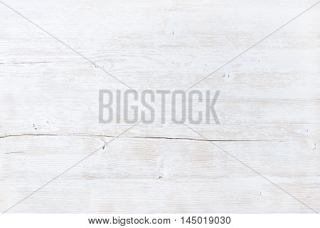Old white painted wooden texture, wallpaper and background