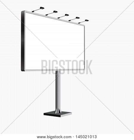 Trade exhibition stand Exhibition round 3D rendering visualization of exhibition equipment Advertising space on a white background with space for text ads vector