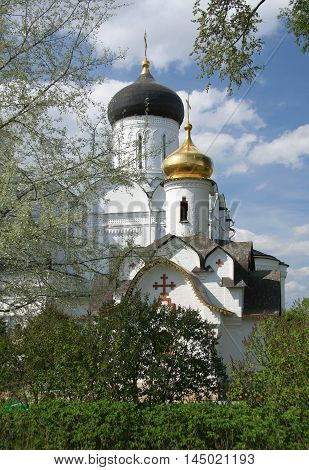 Ancient monastery of Sts. Boris and Gleb is one of the beautiful places in the Dmitrov, Moscow region, Russia