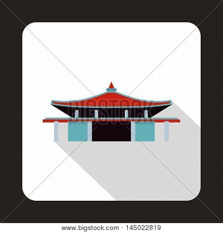 Pagoda icon in flat style on a white background