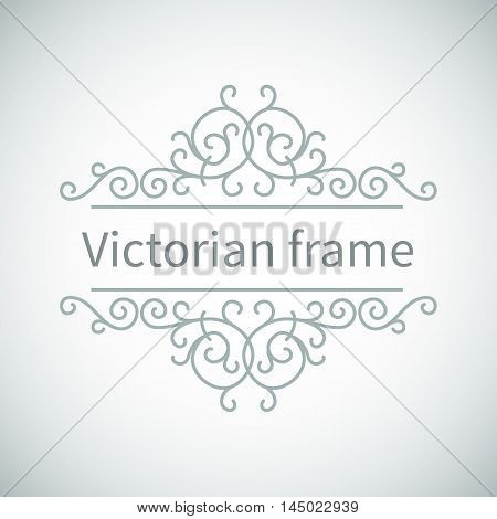 Luxury Victorian ornament.Vector vintage collection: Baroque and antique frames and ornamental design elements