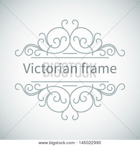 Luxury Victorian ornament.Vector vintage collection: Baroque and antique frame and ornamental design element