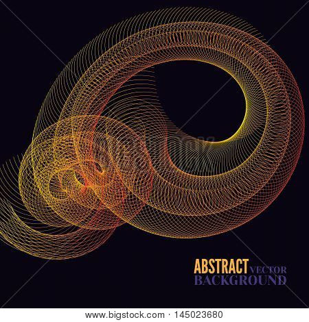 Abstract futuristic orange cyberspace with mesh. Space background for businessweb design print or presentation.