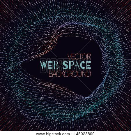 Abstract futuristic cyberspace with mesh.Space background