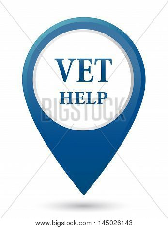 blue veterinarian help icon on white background