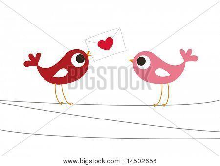 birds love card