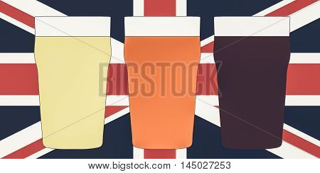 Pints Of Beer Vintage