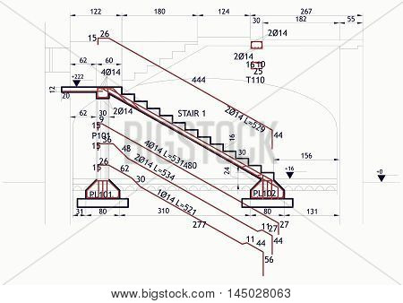 Structural Drawing Vintage