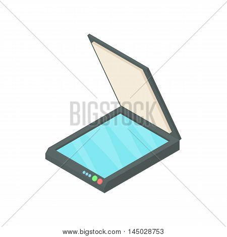 Scanner icon in cartoon style isolated on white background. Scan symbol