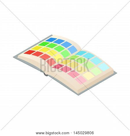 Directory palette color icon in cartoon style isolated on white background. Choice symbol