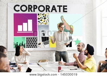 Corporate Business Organization Company Concept