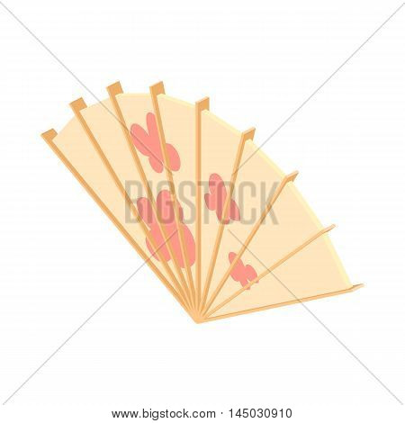 Fan icon in cartoon style isolated on white background. Accessory symbol