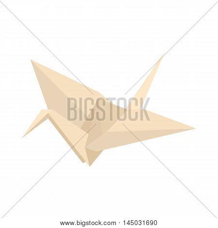 Origami icon in cartoon style isolated on white background. Handmade symbol
