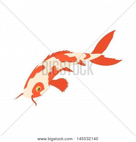 Koi carp icon in cartoon style isolated on white background. Fish symbol