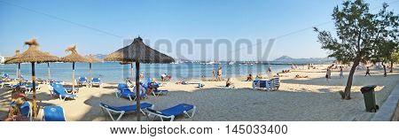 Beach Panorama Of Port De Pollenca