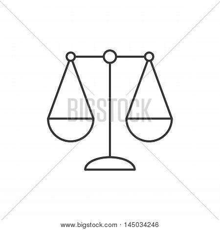 balance icon, Libra zodiac sign thin line icon, sign of justice simple line vector