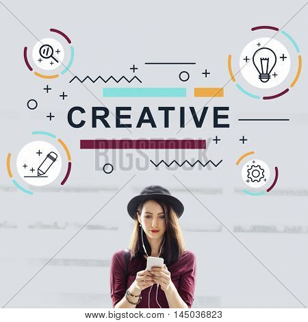 Design Creative Imagination Ideas Graphic Concept