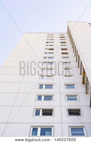 Modern Geometric Architecture Building Apartment Tall Floors