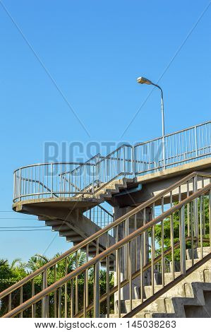 close up overpass in train station country Thailand