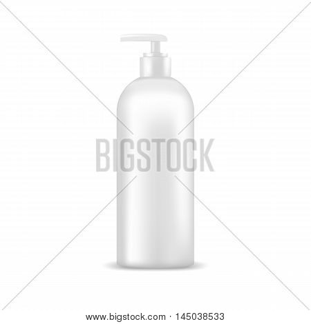 Cosmetic bottle with dispenser pump. Mock up, cosmetic package