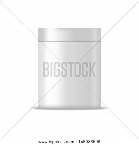 Metallic blank box illustration. Mock up, cosmetic package