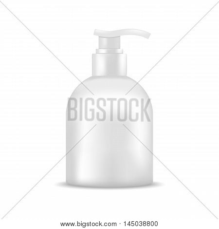 Soap bottle with dispenser pump. Mock up, cosmetic package