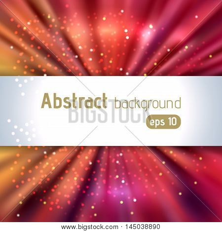 Background With Colorful Light Rays. Abstract Background. Vector Illustration. Orange, Red, Brown Co