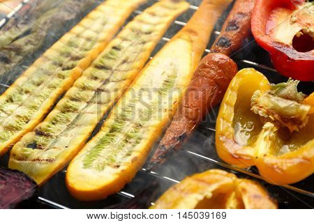 Grilled vegetables, closeup