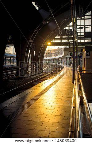 Berlin Train Station Backlight