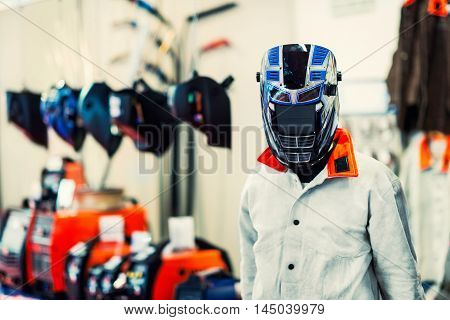 Protective industrial workwear, toned image, horizontal image