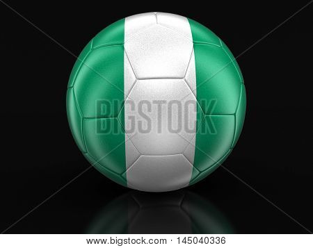 3D Illustration. Soccer football with Nigerian flag. Image with clipping path