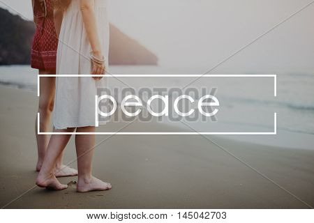 Relax Relaxation Positive Peace Concept