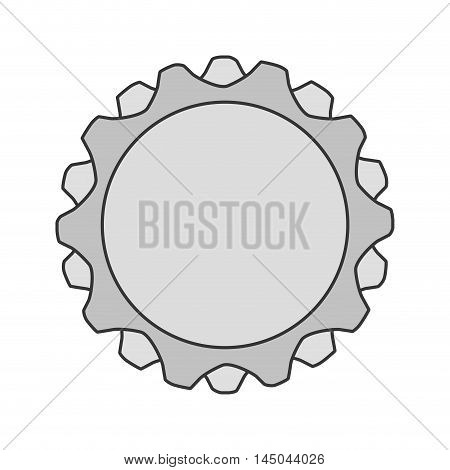 gear grey cog circle machine part tool icon. Flat and isolated design. Vector illustration