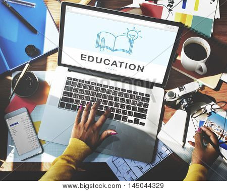 Be Creative E-learning Innovation Education Knowledge Concept