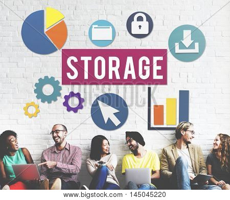 Storage Cloud Network Space Concept