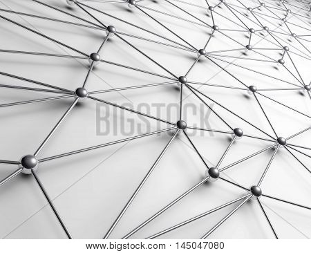 3D Illustration - Interconnected balls on white background.